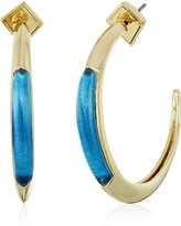 Alexis Bittar Crescent Horizon Blue Hoop Earrings