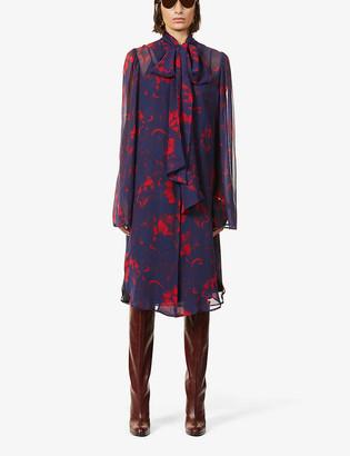 Dries Van Noten Floral-print silk midi dress