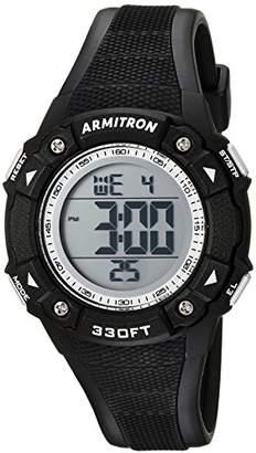 Armitron Sport Women's 45/7081BLK Digital Chronograph Resin Strap Watch