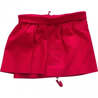 DSQUARED2 Red Cotton Skirt for Women