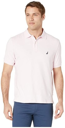 Nautica Short Sleeve Solid Interlock Polo (Cradle Pink) Men's Short Sleeve Pullover