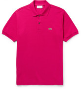 Lacoste Cotton-piqué Polo Shirt - Pink