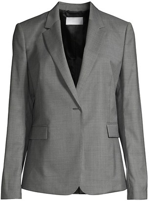 HUGO BOSS Jeniver1 Natural Stretch Wool Optic Suiting Jacket