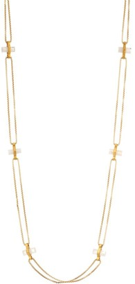 Dean Davidson Core Signature 22K Goldplated & Rainbow Moonstone Bar Charm Necklace