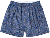 Sunspel Classic Cotton Liberty Print Boxer Shorts, Navy