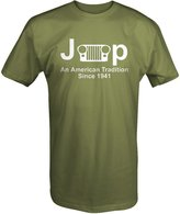 OS Down Jeep Classic Grill Wrangler American Tradition Since 1941 T shirt - Xlarge