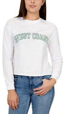 Rebellious One Juniors West Coast Cotton Long-Sleeve Top