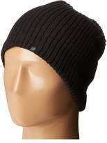 Plush Fleece-Lined Ribbed Beanie