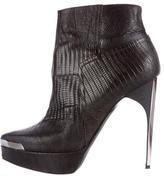 Lanvin Lizard Ankle Boots