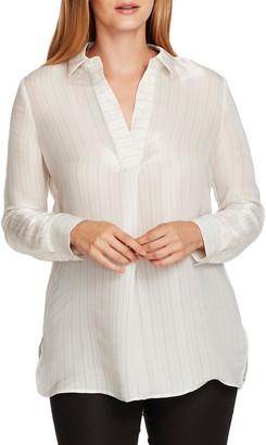 Vince Camuto Iridescent Stripe Tunic Shirt
