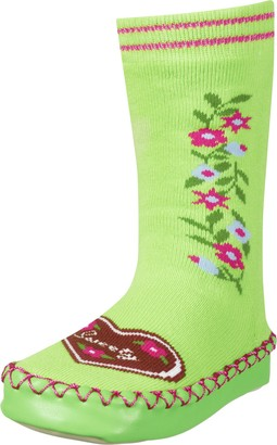Playshoes Unisex Kid's Anti-Slip Cotton Socks Heart Design Slippers