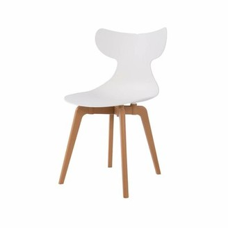 Ebern Designs Fagersta Dining Chair Color: White