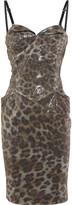 Vivienne Westwood Sequined crepe leopard bustier dress