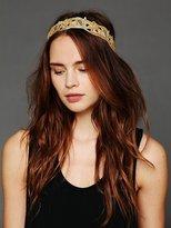 Free People Gold Velvet Headband