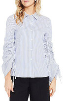 Vince Camuto Long Sleeve Ruched Button Down Shirt