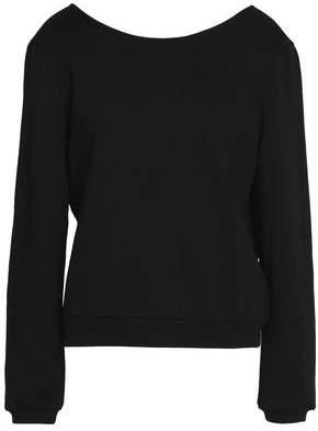Claudie Pierlot Guipure Lace-Paneled Cotton-Blend Sweater