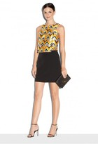 Milly Italian Cady Modern Mini Skirt
