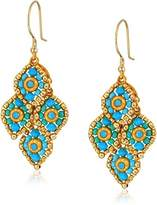 Miguel Ases Mini Marquise Cluster Movable 3D Swarovski Drop Earrings