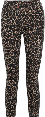 Alice + Olivia Good Cropped Leopard-print High-rise Skinny Jeans