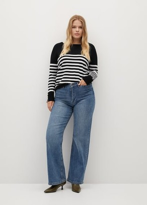MANGO Horizontal-stripe sweater