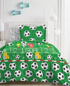 Dream Factory Soccer Field Comforter Bed in a Bag, Full Bedding