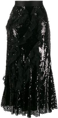 Act N°1 Sequined Ruffled Skirt