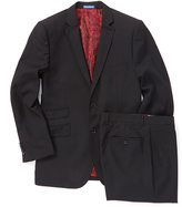 English Laundry Black & Red Wool Suit Jacket & Pants