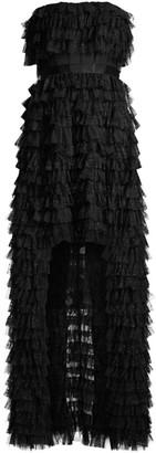 BCBGMAXAZRIA Eve Ruffle Tulle Gown