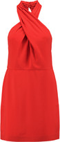 Halston Twisted crepe mini dress