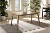 Asstd National Brand Baxton Studio Edna Wood-Top Dining Table