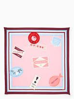 Kate Spade Travel stickers square scarf