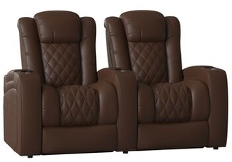Red Barrel Studioâ® Continental Home Theater Row Seating (Row of 2) Red Barrel StudioA Body Fabric: Luxe Espresso