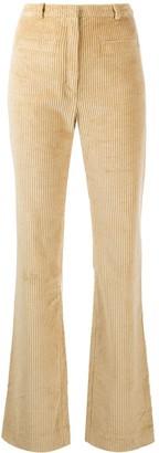 Paco Rabanne High-Rise Kick-Flare Corduroy Trousers