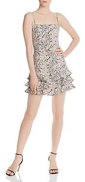 Bardot Ruffled Snake Print Mini Dress - 100% Exclusive