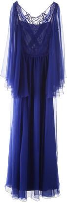 Alberta Ferretti Lace Panel Maxi Dress