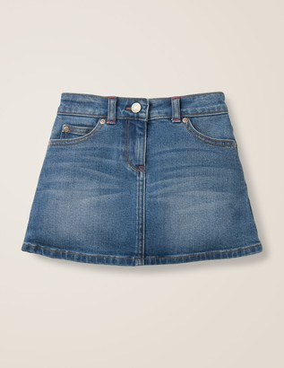 Boden Novelty Pocket Denim Skirt