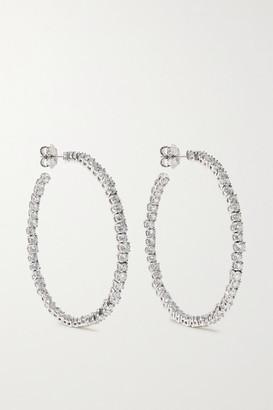 Suzanne Kalan 18-karat White Gold Diamond Hoop Earrings