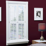 JCPenney HomeTM Faux-Wood Plantation Shutters with Mid-Rail - 2 Panels