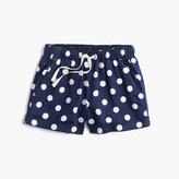 J.Crew Girls' pull-on short in polka dot