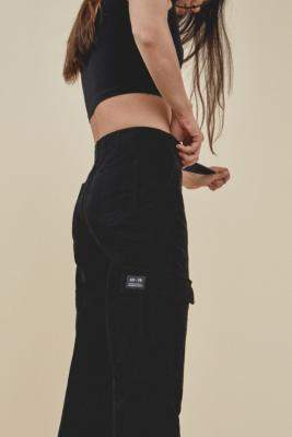 BDG Black Authentic Buckle Cargo Trousers - black XS at Urban Outfitters