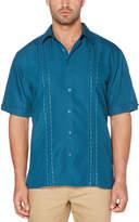 Cubavera Big & Tall Novelty Embroidered Panel Shirt