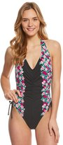 Betsey Johnson Ballerina Rose High Cut Leg One Piece Swimsuit 8157045