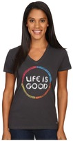 Life is Good Color Circle Crusher Vee