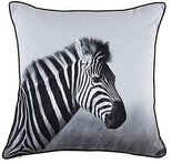 Torre & Tagus 901940 Printed Cushion with Zebra Photo, 18 by 18-Inch by