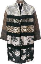 Antonio Marras contrast pattern coat - women - Polyester/Viscose/Virgin Wool - XS