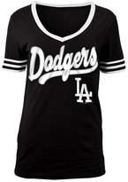 5th & Ocean Women's Los Angeles Dodgers Retro V-Neck T-Shirt