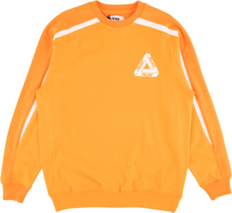 Sweat melange Sweatshirt orange meliert angerauht 50 cm