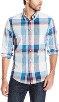 Ben Sherman Men's Long Sleeve Summer Madras Button Down Shirt
