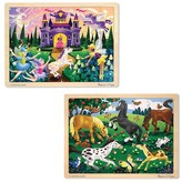 Melissa & Doug 48-Piece Jigsaw Bundle - Girl (2 Puzzle Bundle)