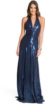 Nicole Miller Navy Sequin Gown